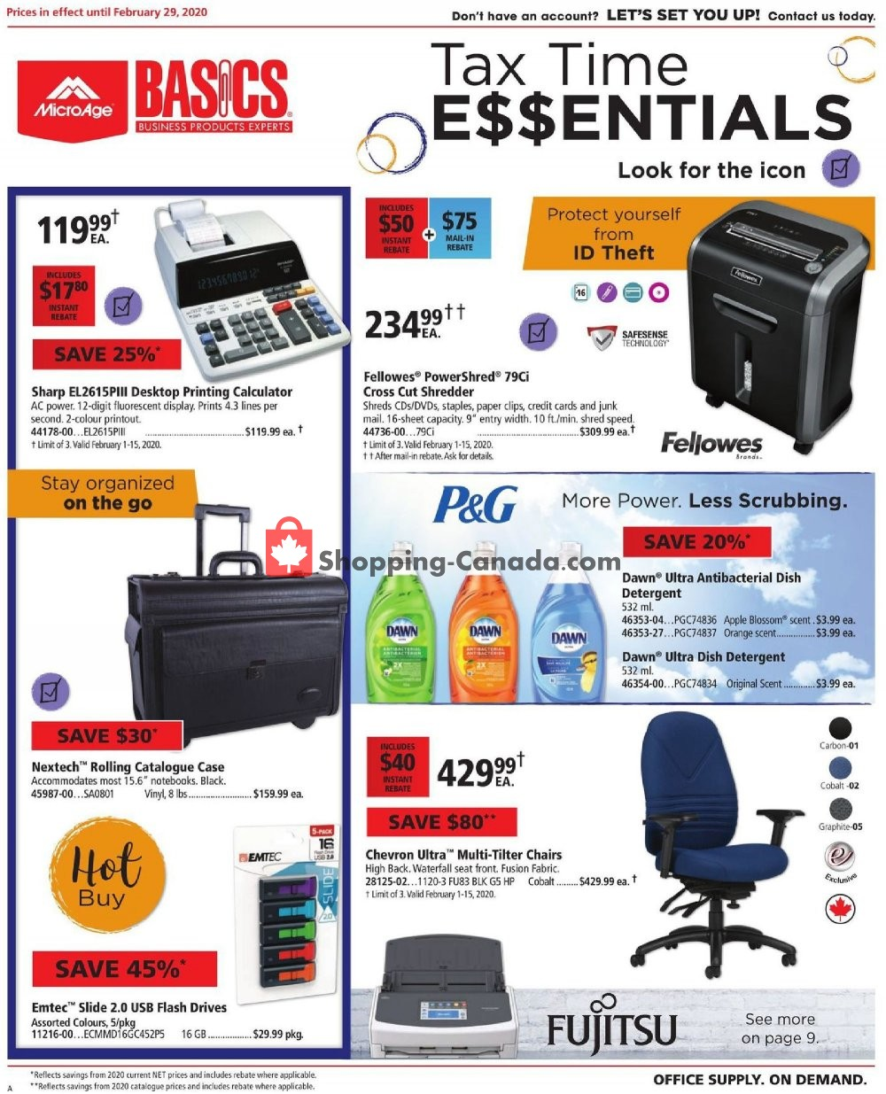 Flyer Basics Office Products Canada - from Saturday February 1, 2020 to Saturday February 29, 2020