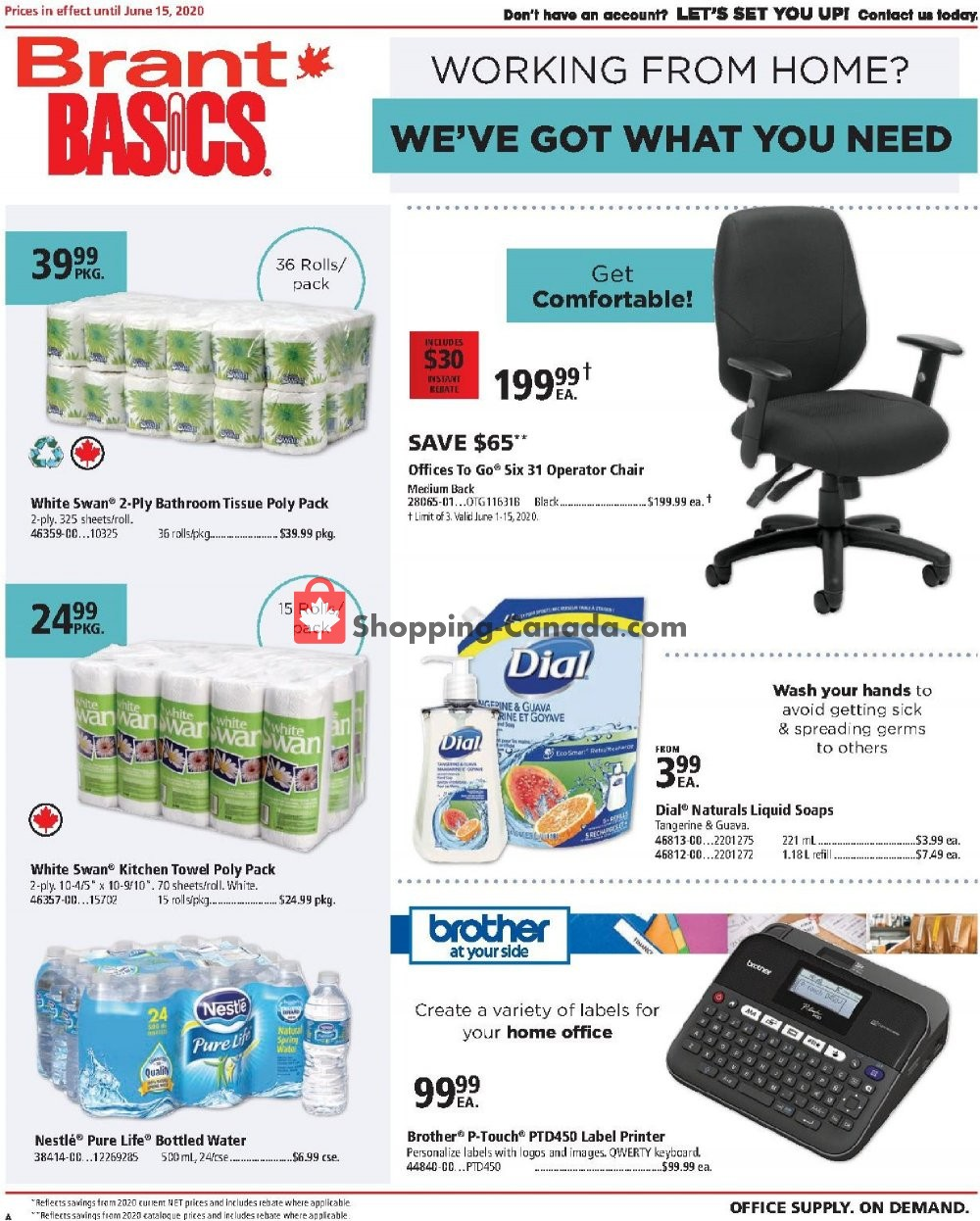 Flyer Basics Office Products Canada - from Monday June 1, 2020 to Monday June 15, 2020