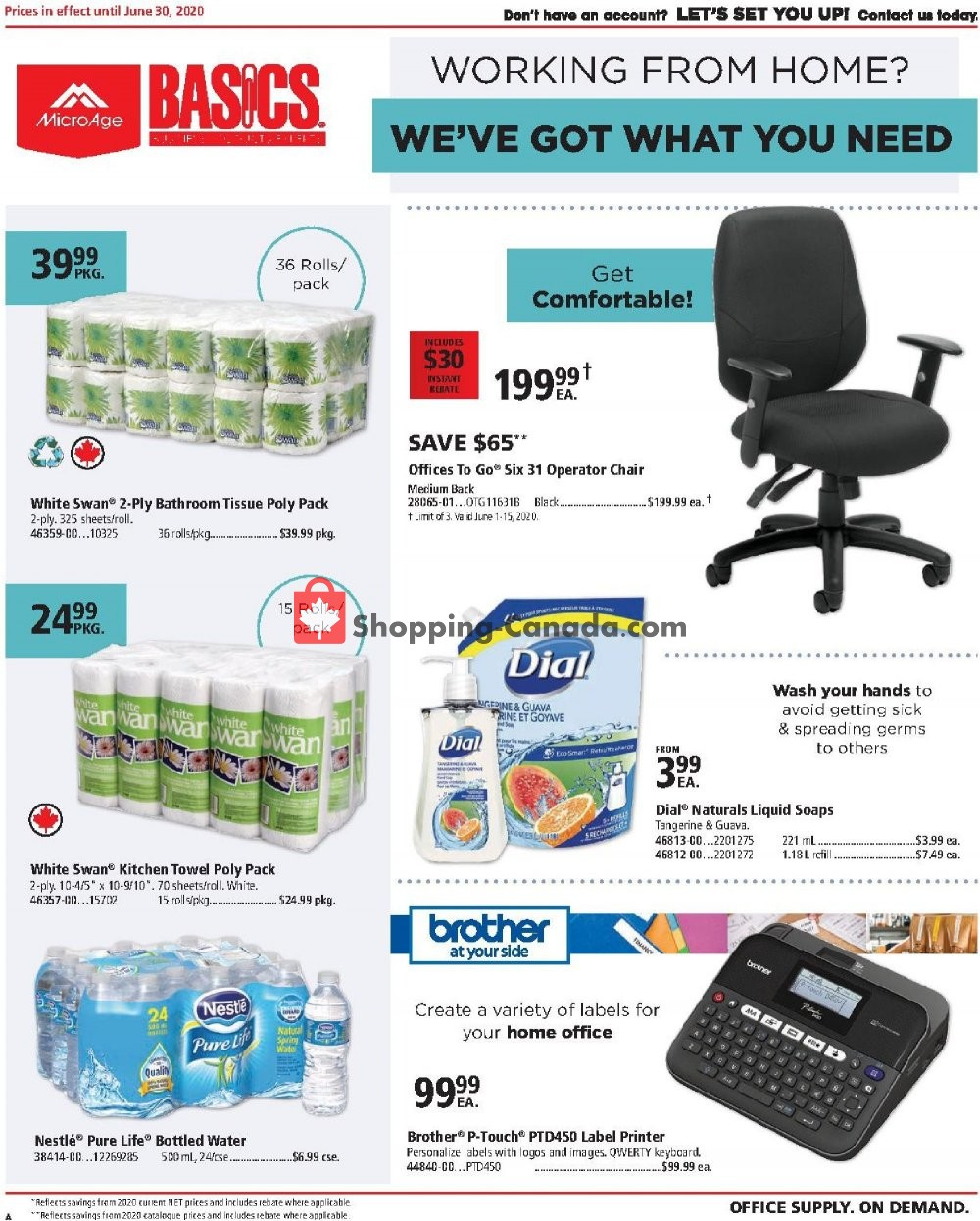 Flyer Basics Office Products Canada - from Monday June 1, 2020 to Tuesday June 30, 2020