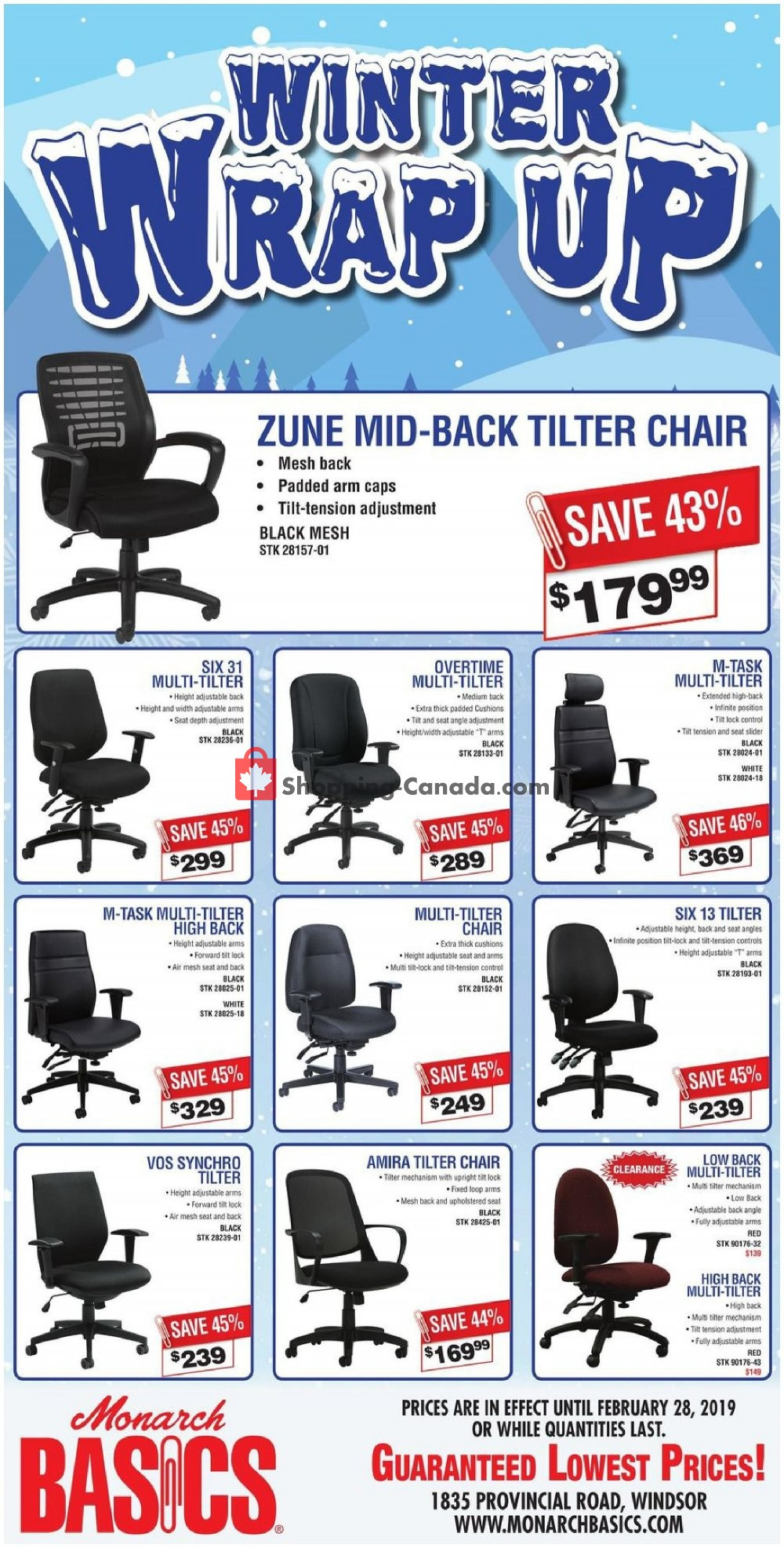 Flyer Basics Office Products Canada - from Wednesday February 6, 2019 to Thursday February 28, 2019