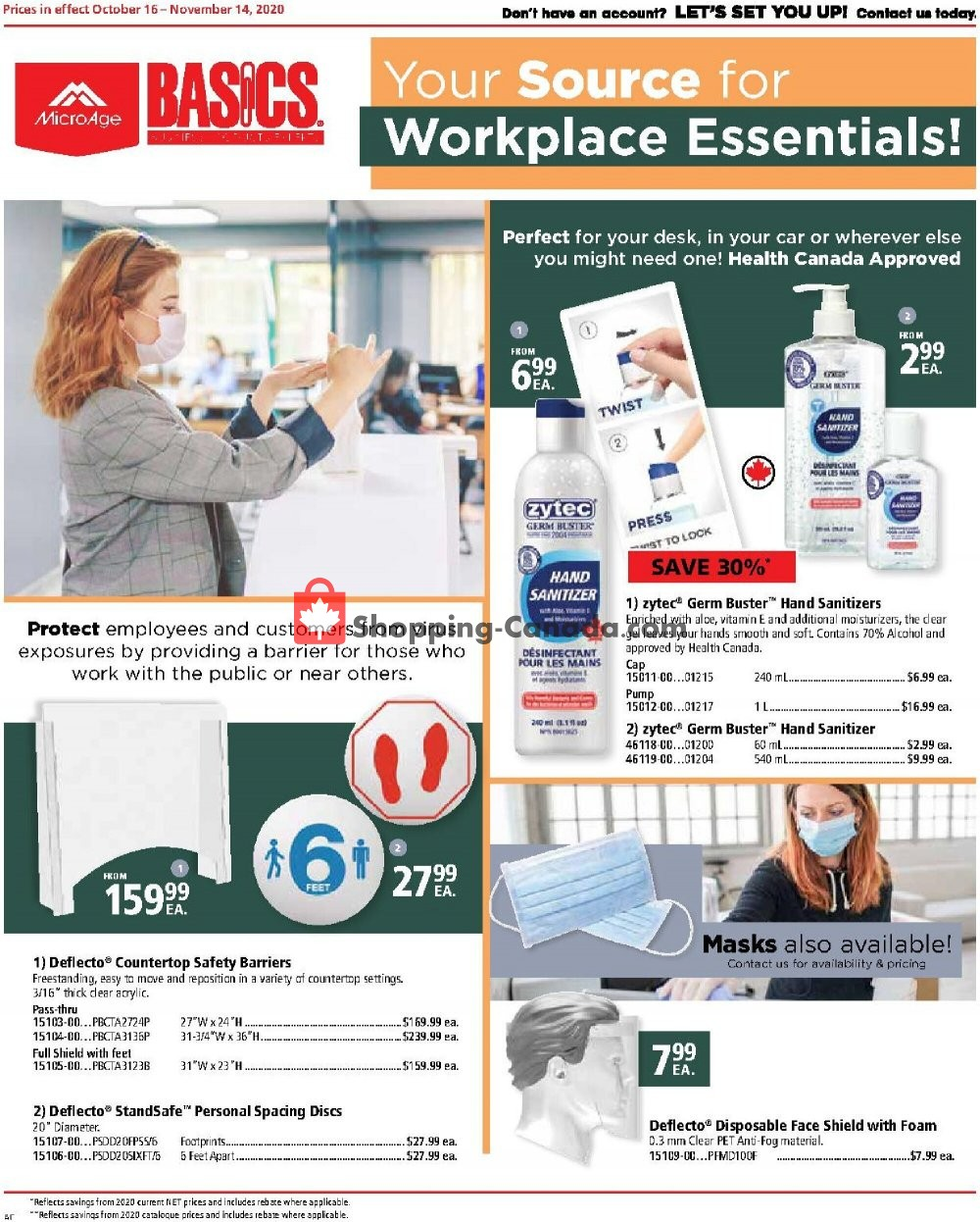 Flyer Basics Office Products Canada - from Friday October 16, 2020 to Saturday November 14, 2020