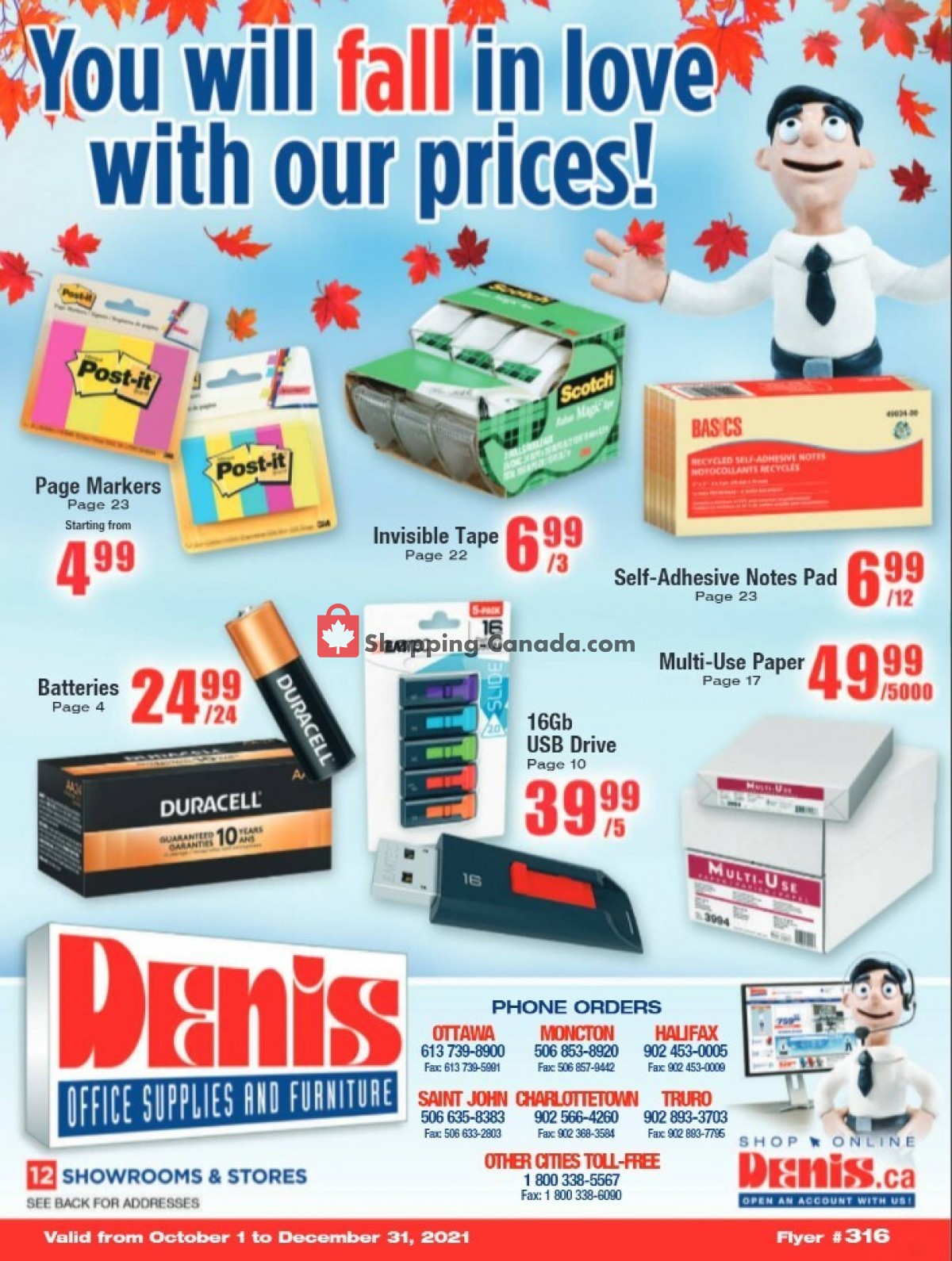 Flyer Basics Office Products Canada - from Friday October 1, 2021 to Friday December 31, 2021