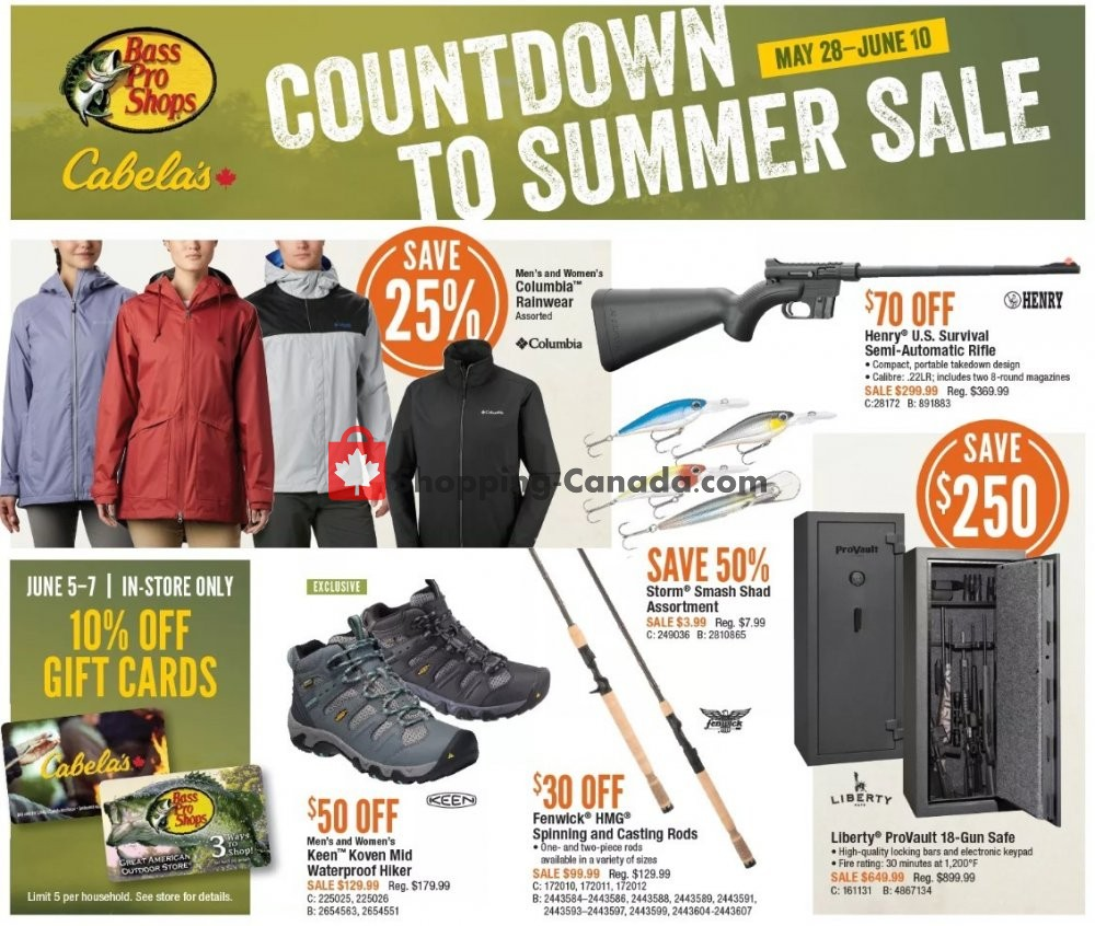 Flyer Bass Pro Shops Canada - from Thursday May 28, 2020 to Wednesday June 10, 2020