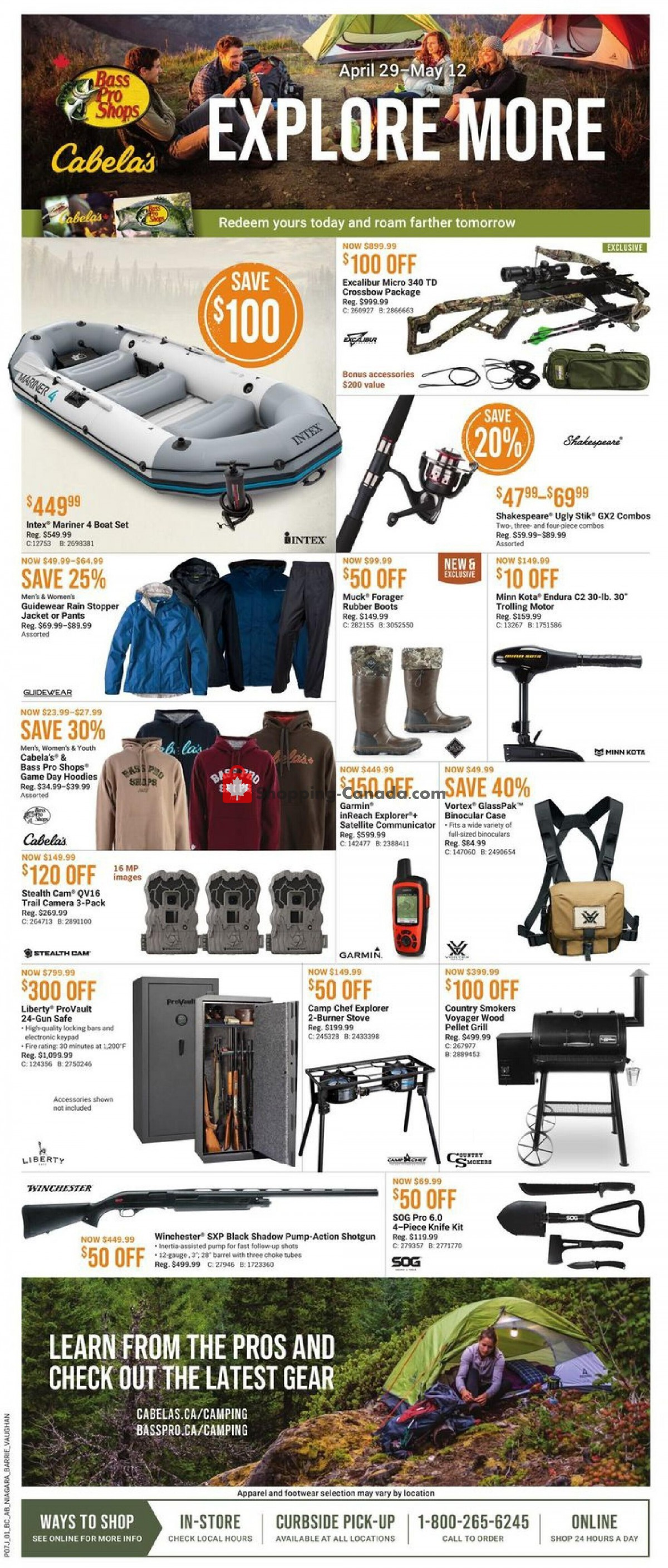 Flyer Bass Pro Shops Canada - from Thursday April 29, 2021 to Wednesday May 12, 2021