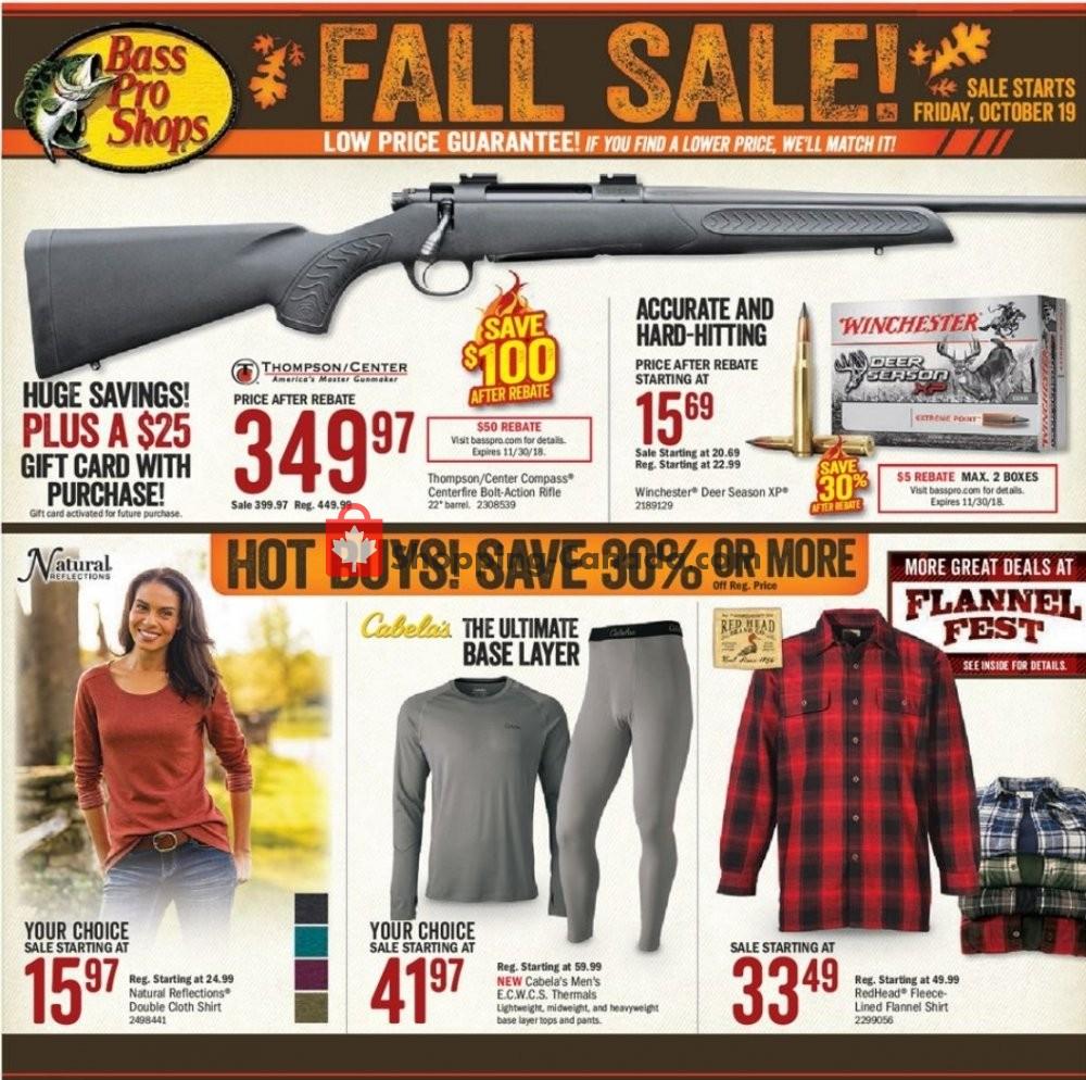 Flyer Bass Pro Shops Canada - from Friday October 19, 2018 to Sunday November 4, 2018