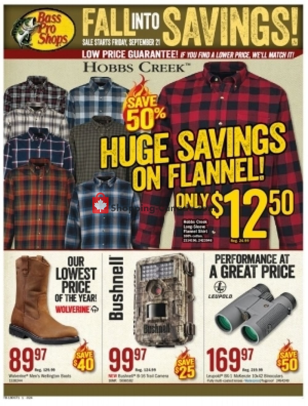 Flyer Bass Pro Shops Canada - from Friday September 21, 2018 to Sunday October 7, 2018