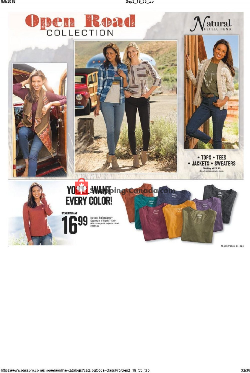 Flyer Bass Pro Shops Canada - from Thursday September 5, 2019 to Sunday September 22, 2019