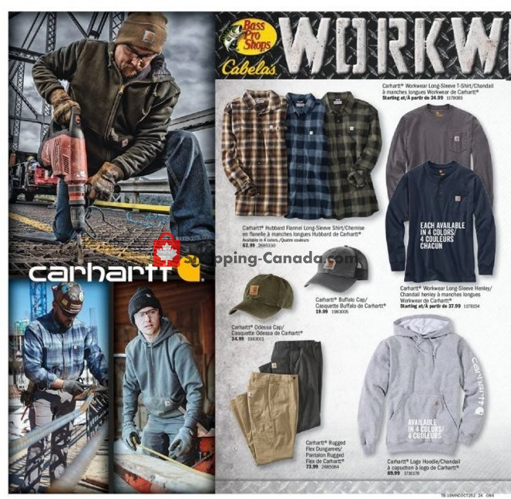 Flyer Bass Pro Shops Canada - from Thursday October 3, 2019 to Sunday October 20, 2019