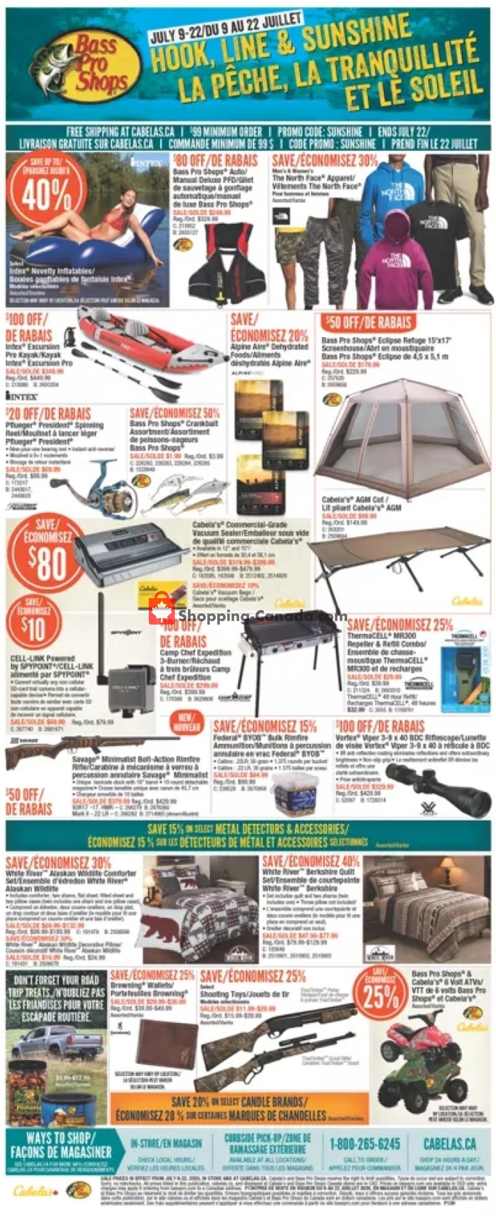 Flyer Bass Pro Shops Canada - from Thursday July 9, 2020 to Wednesday July 22, 2020