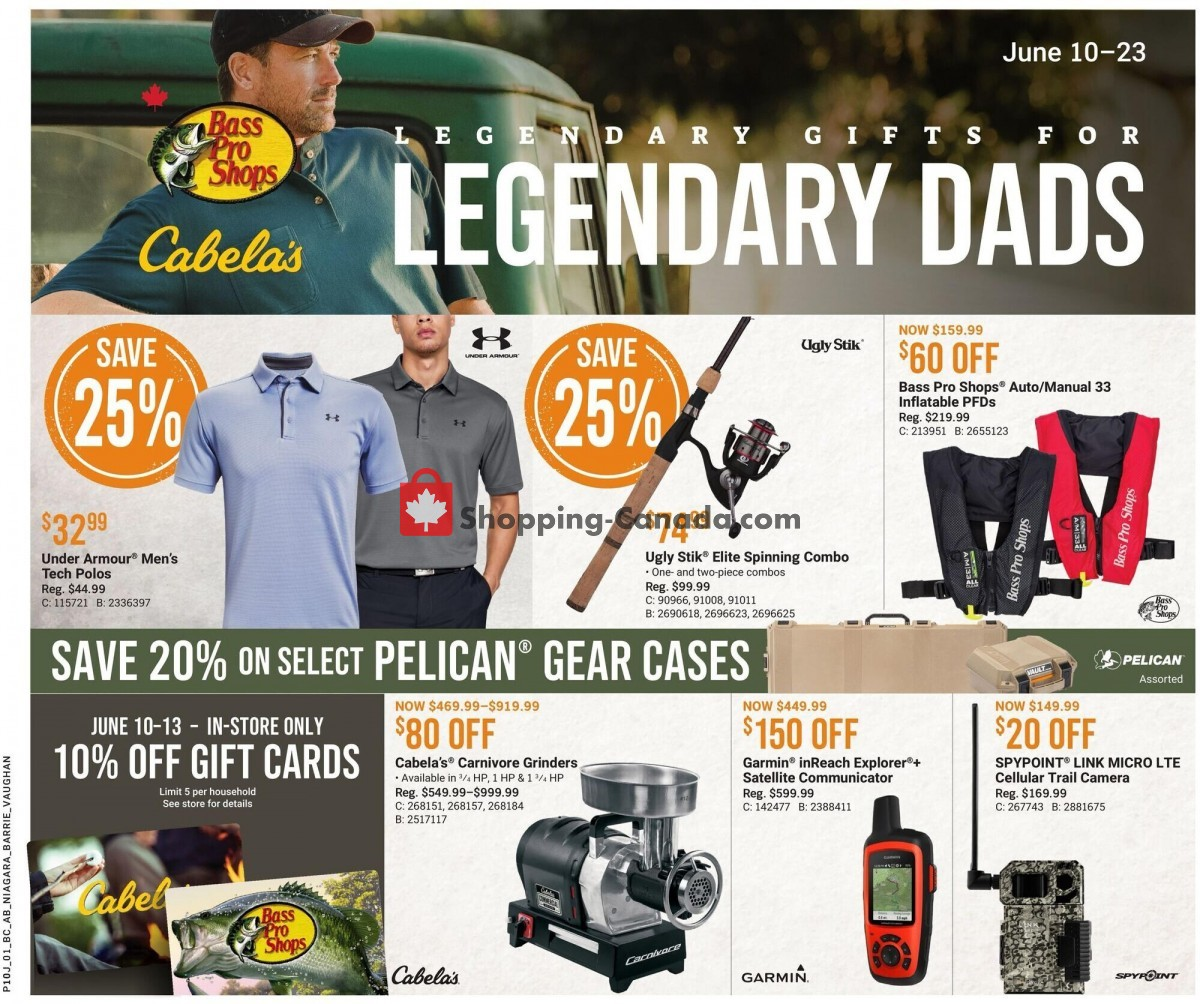 Flyer Bass Pro Shops Canada - from Thursday June 10, 2021 to Wednesday June 23, 2021