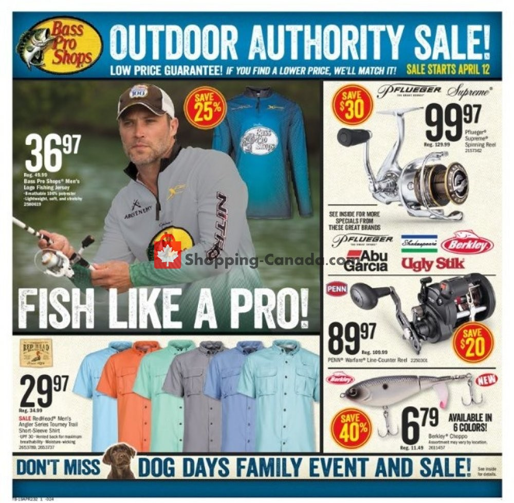 Flyer Bass Pro Shops Canada - from Friday April 12, 2019 to Sunday April 28, 2019