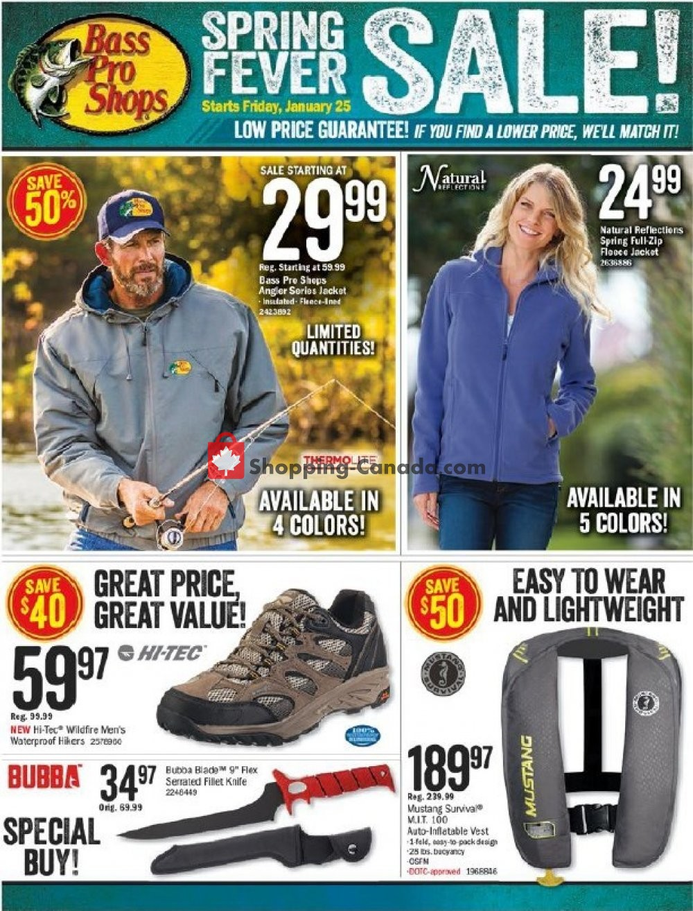 Flyer Bass Pro Shops Canada - from Friday January 25, 2019 to Thursday February 14, 2019