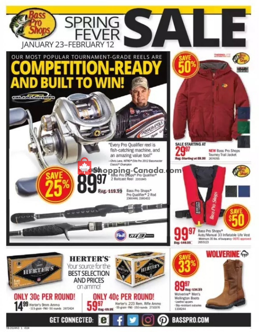 Flyer Bass Pro Shops Canada - from Thursday January 23, 2020 to Wednesday February 12, 2020