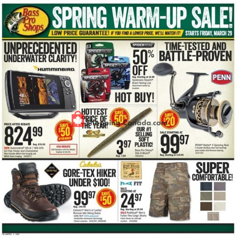 Flyer and weekly ads: Bass Pro Shops Canada - (Spring Warm