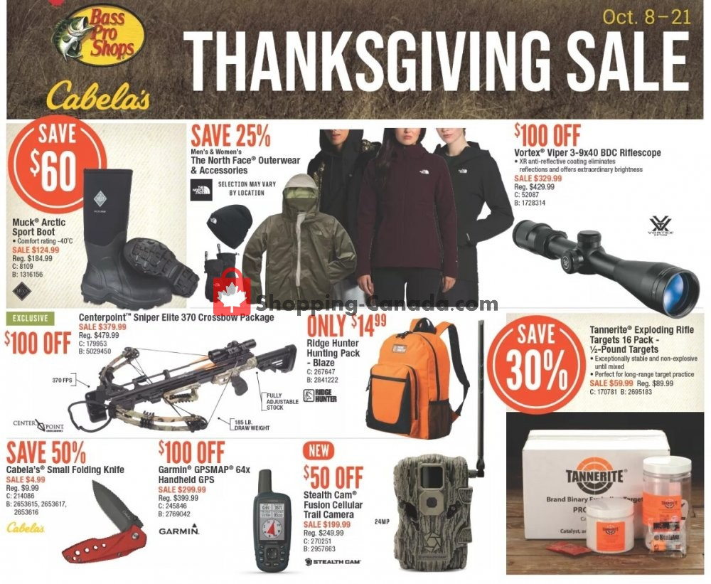 Flyer Bass Pro Shops Canada - from Thursday October 8, 2020 to Wednesday October 21, 2020