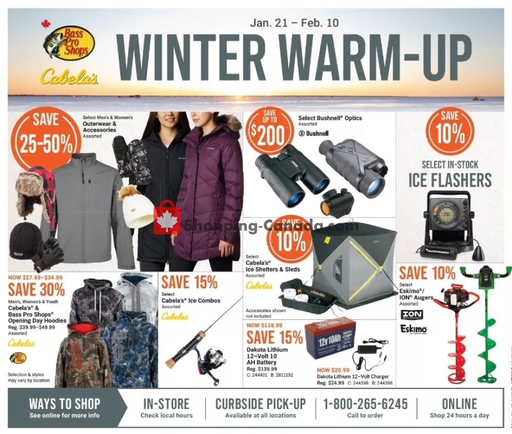 Flyer Bass Pro Shops Canada - from Thursday January 21, 2021 to Wednesday February 10, 2021