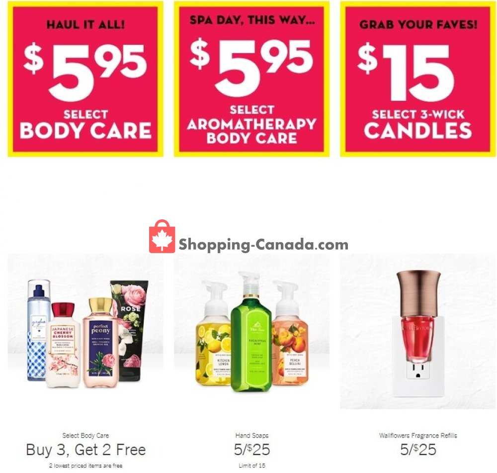 Flyer Bath & Body Works Canada - from Wednesday August 5, 2020 to Tuesday August 11, 2020