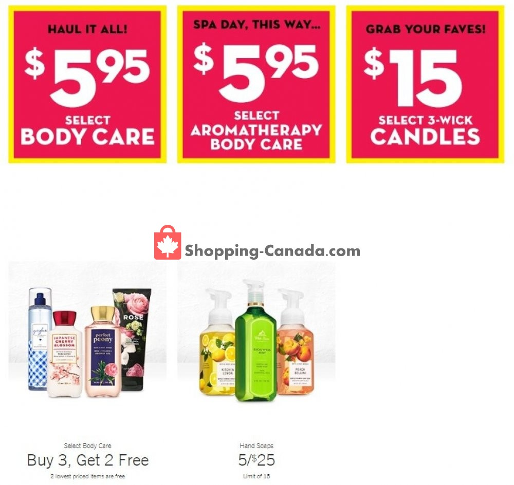Flyer Bath & Body Works Canada - from Wednesday July 29, 2020 to Tuesday August 4, 2020