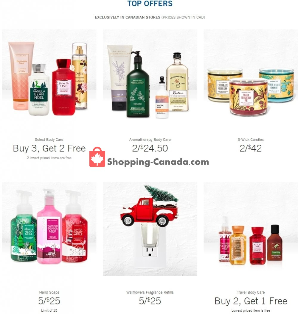 Flyer Bath & Body Works Canada - from Wednesday December 16, 2020 to Tuesday December 29, 2020