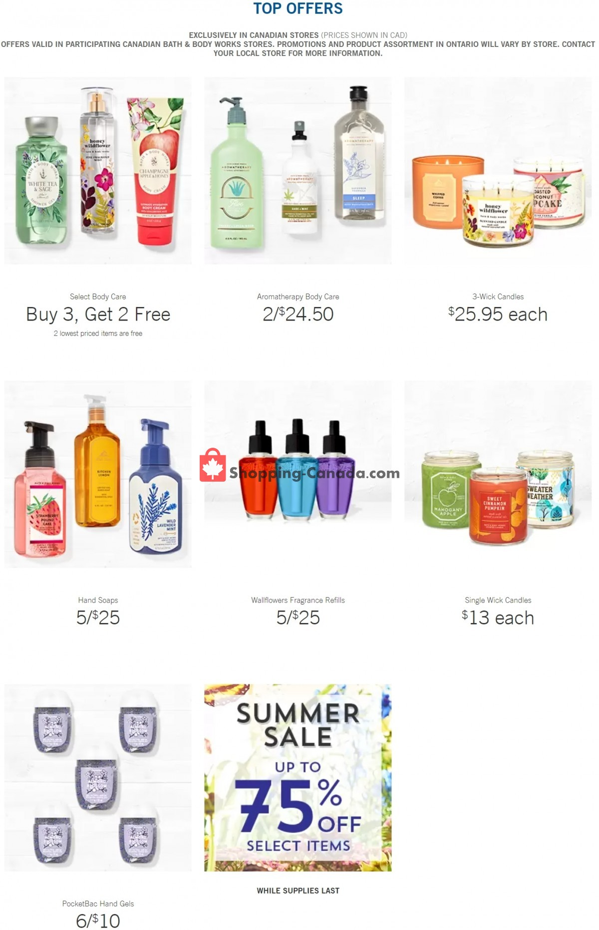 Flyer Bath & Body Works Canada - from Wednesday July 14, 2021 to Tuesday July 20, 2021