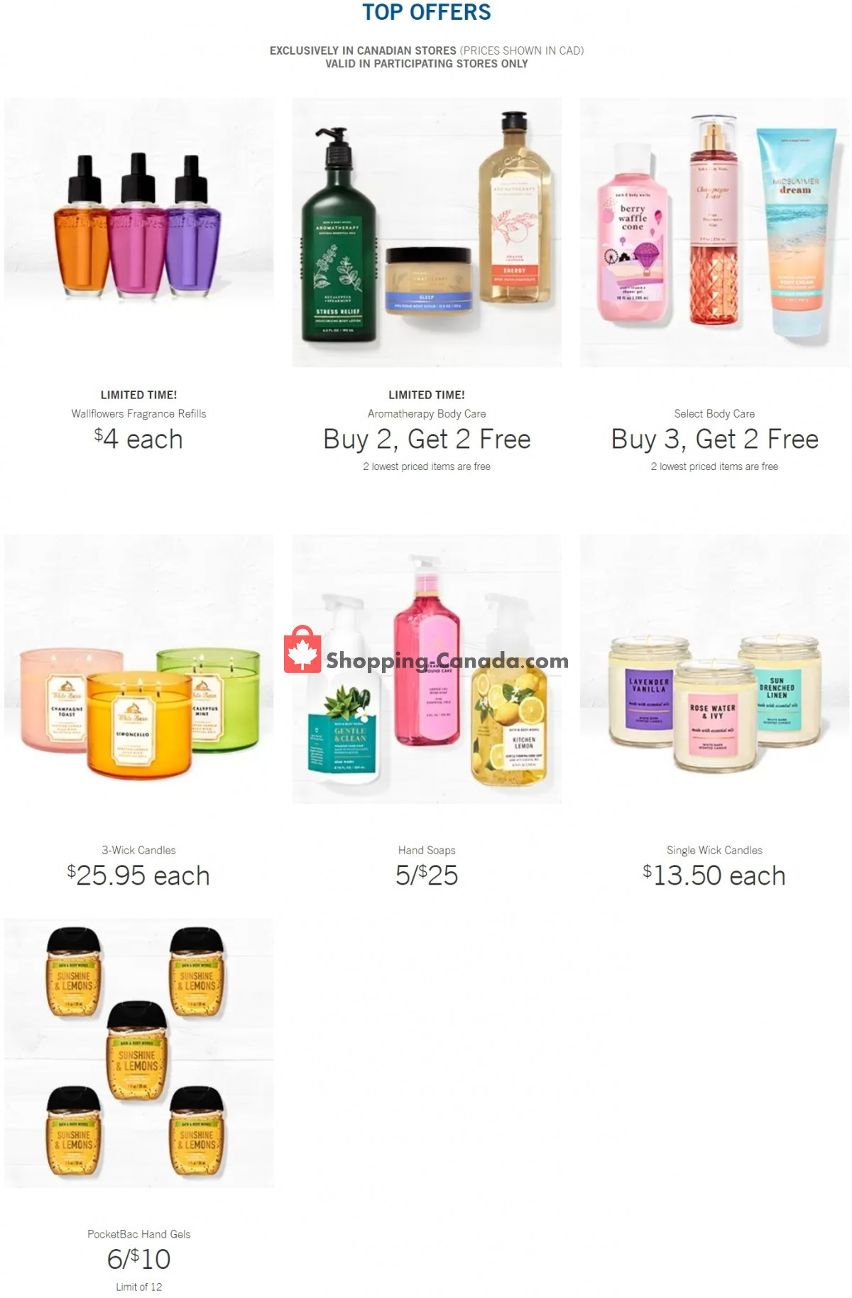 Flyer Bath & Body Works Canada - from Wednesday June 2, 2021 to Tuesday June 8, 2021