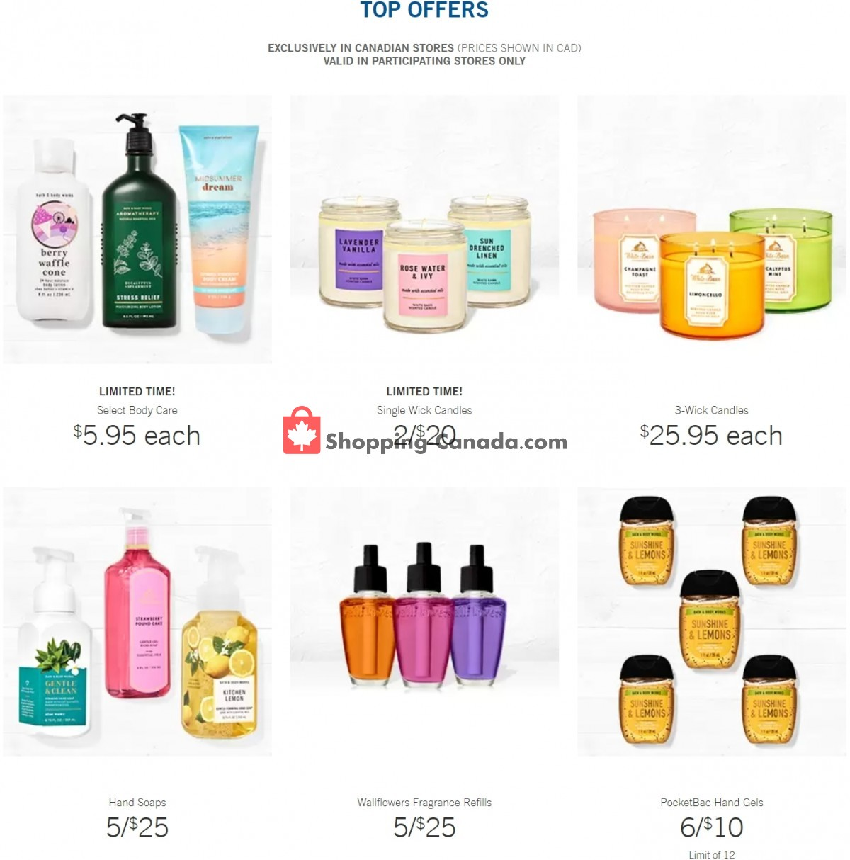 Flyer Bath & Body Works Canada - from Wednesday June 9, 2021 to Tuesday June 15, 2021