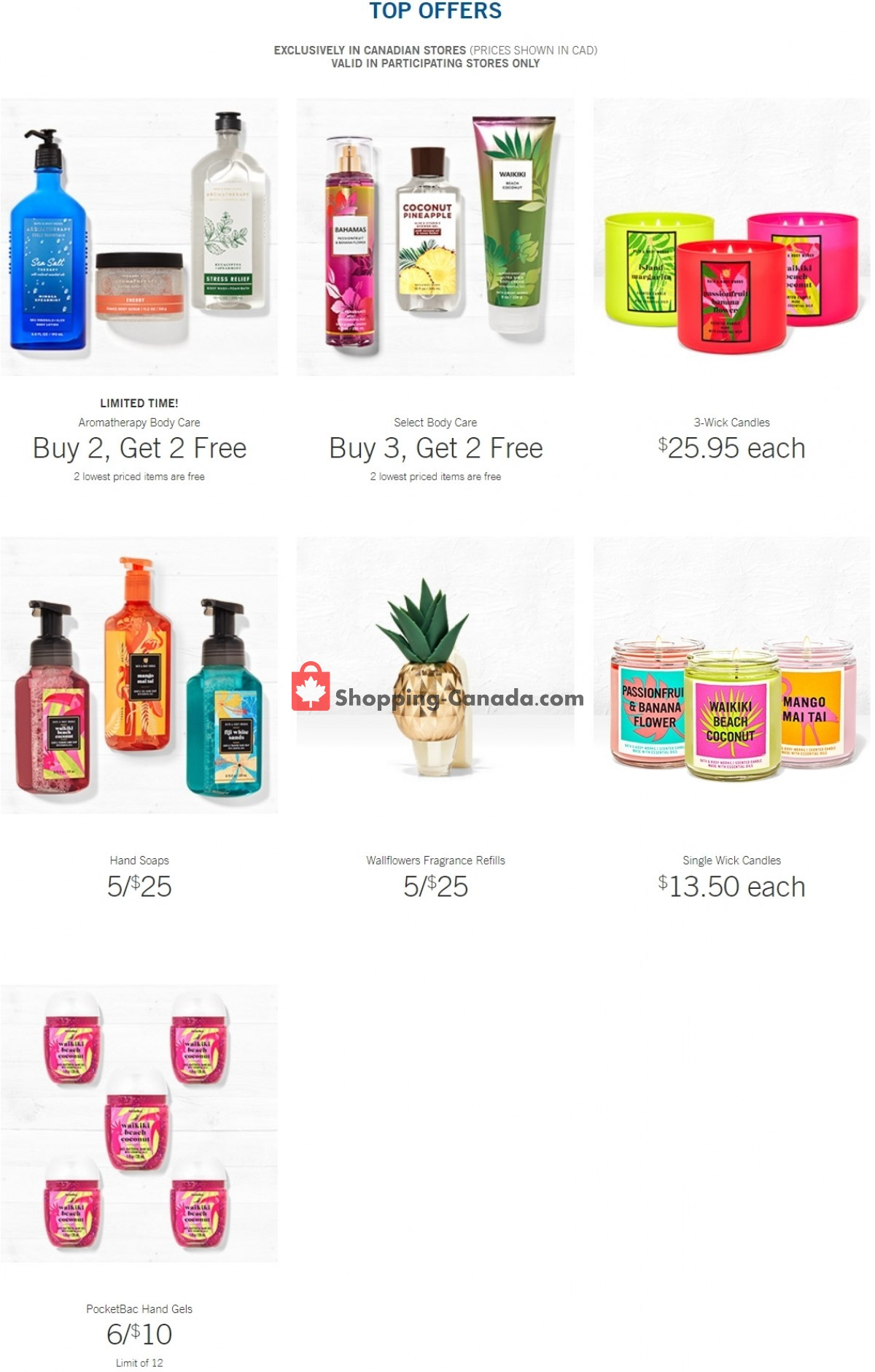 Flyer Bath & Body Works Canada - from Wednesday March 31, 2021 to Tuesday April 6, 2021