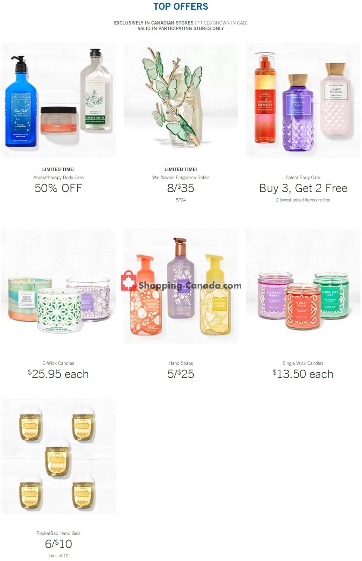 Flyer Bath & Body Works Canada - from Wednesday May 5, 2021 to Tuesday May 11, 2021