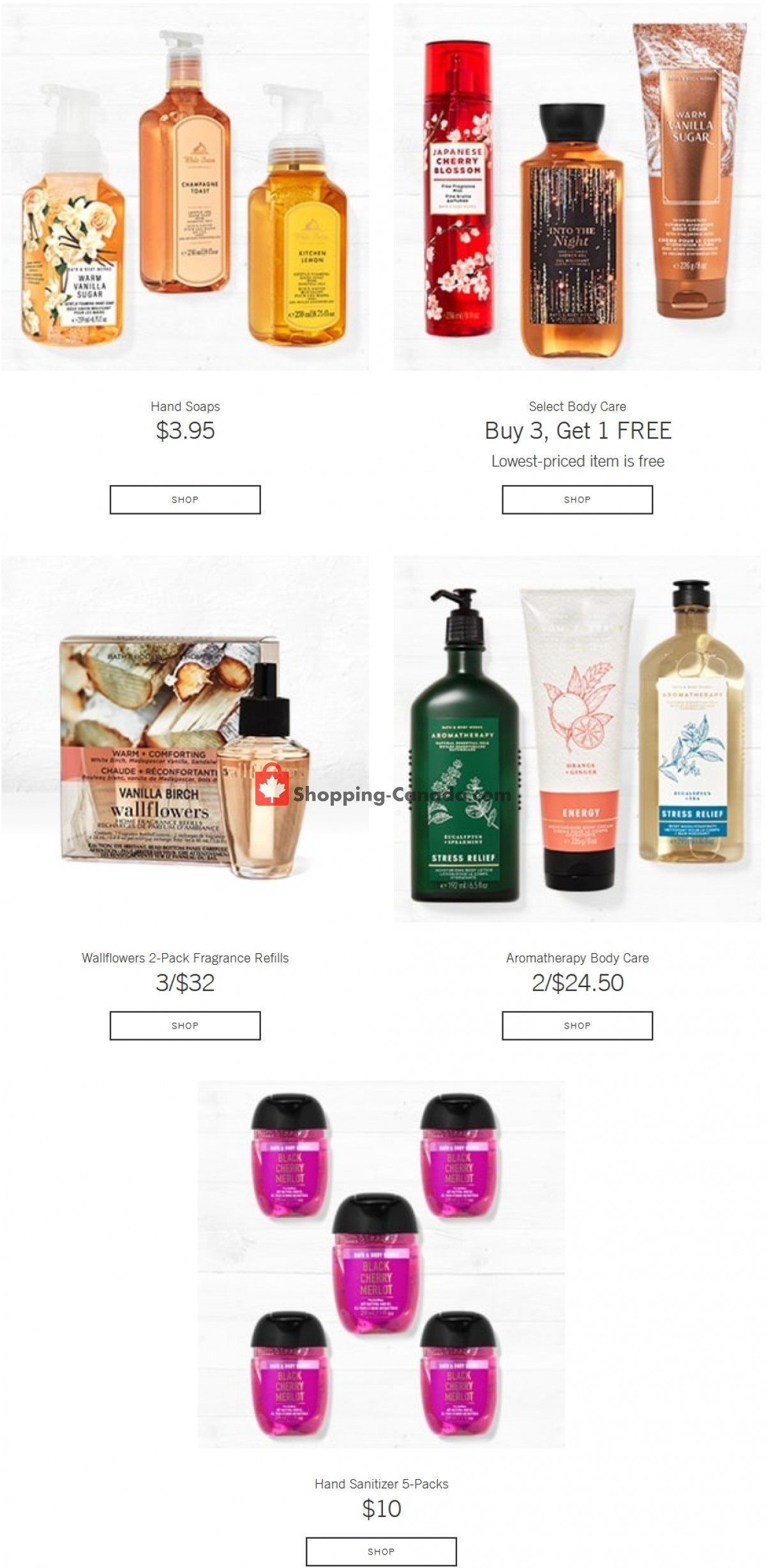 Flyer Bath & Body Works Canada - from Wednesday October 6, 2021 to Tuesday October 12, 2021