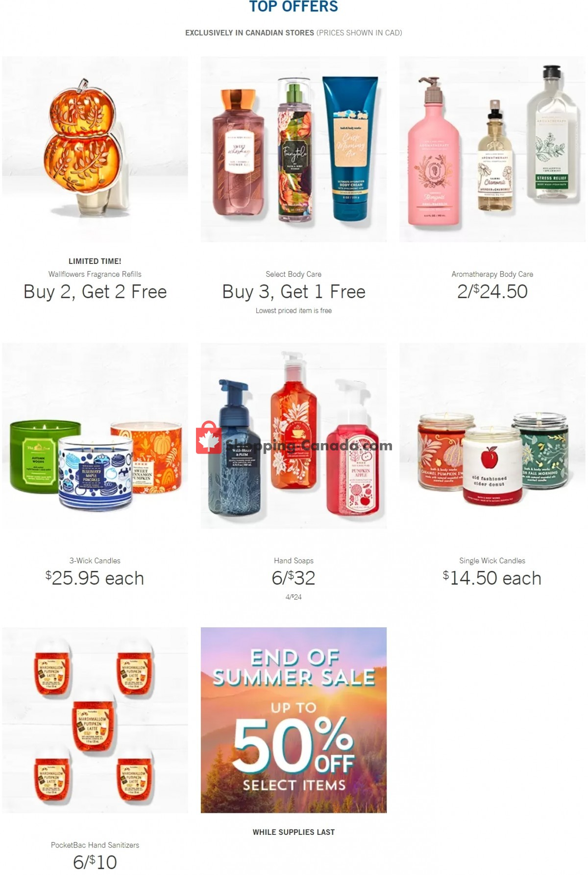 Flyer Bath & Body Works Canada - from Wednesday September 8, 2021 to Tuesday September 14, 2021