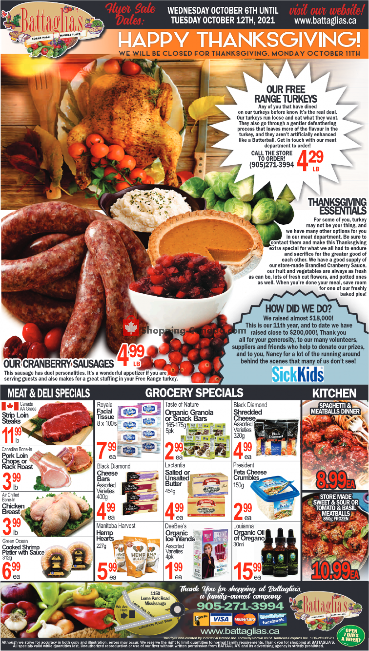 Flyer Battaglia's Marketplace Canada - from Wednesday October 6, 2021 to Tuesday October 12, 2021