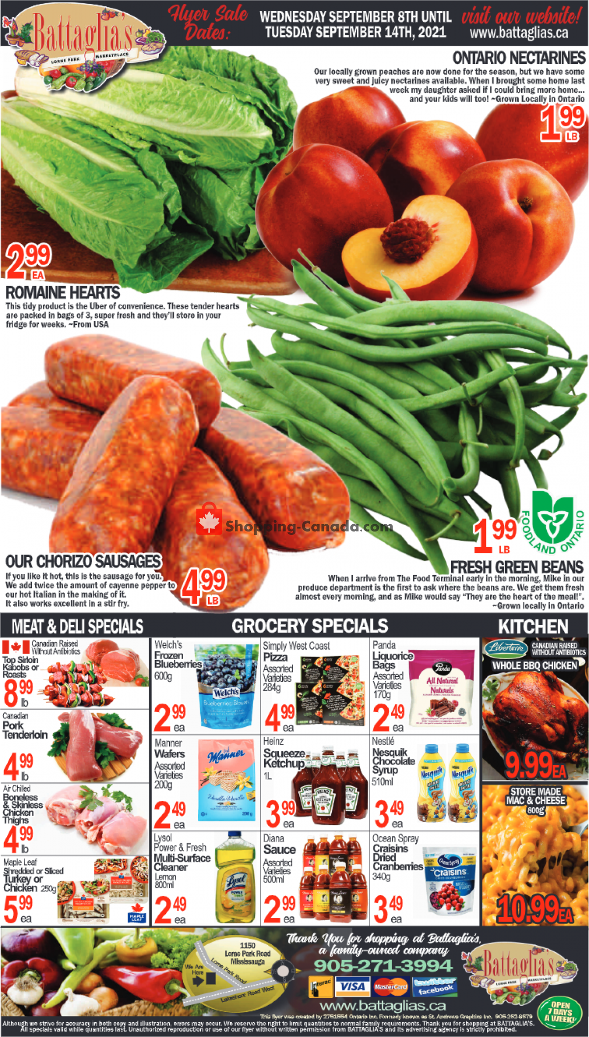 Flyer Battaglia's Marketplace Canada - from Wednesday September 8, 2021 to Tuesday September 14, 2021