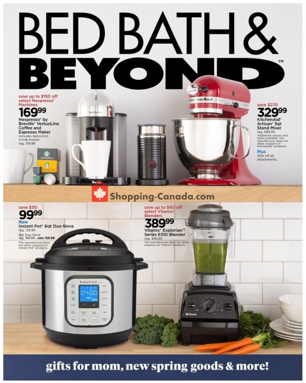 Flyer Bed Bath & Beyond Canada - from Monday April 27, 2020 to Sunday May 10, 2020