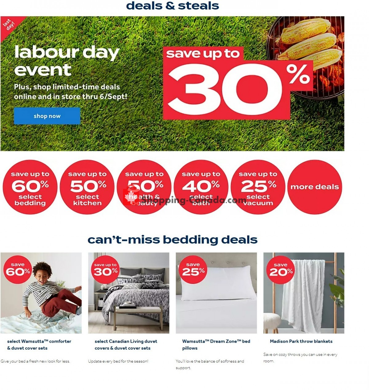 Flyer Bed Bath & Beyond Canada - from Monday September 6, 2021 to Sunday September 12, 2021