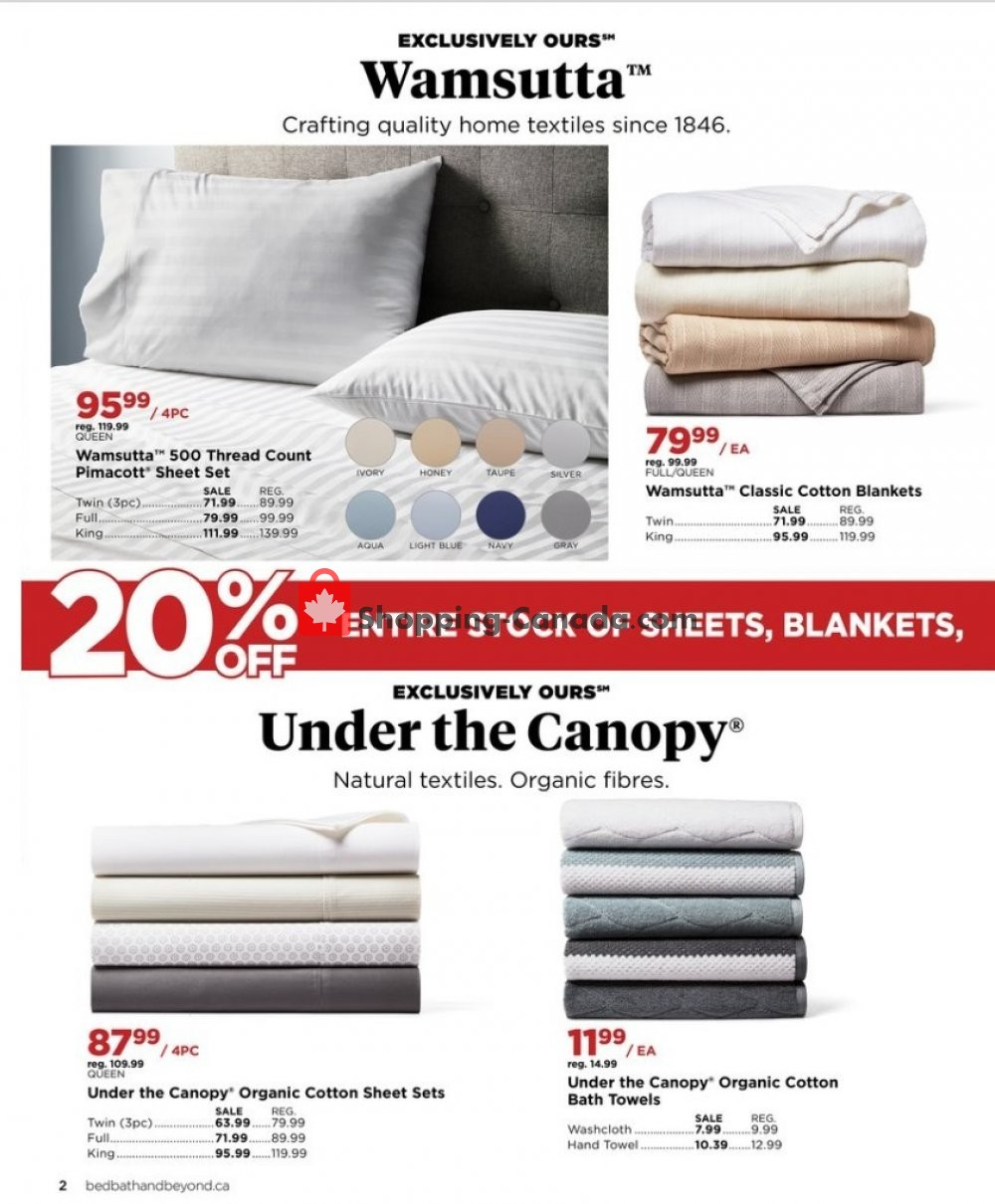 Bed Bath Beyond Canada Flyer Special Offer January 8 February 24 2020 Shopping Canada