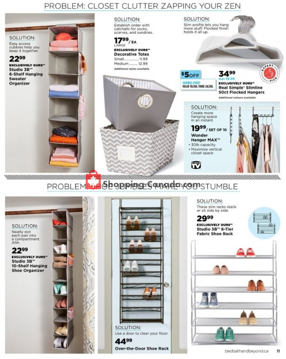 Flyer Bed Bath & Beyond Canada - from Friday July 12, 2019 to Thursday September 19, 2019