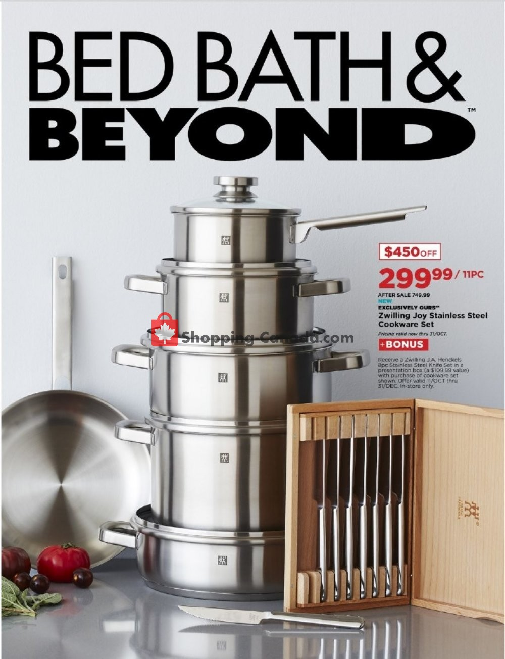 Flyer Bed Bath & Beyond Canada - from Monday October 14, 2019 to Monday December 2, 2019