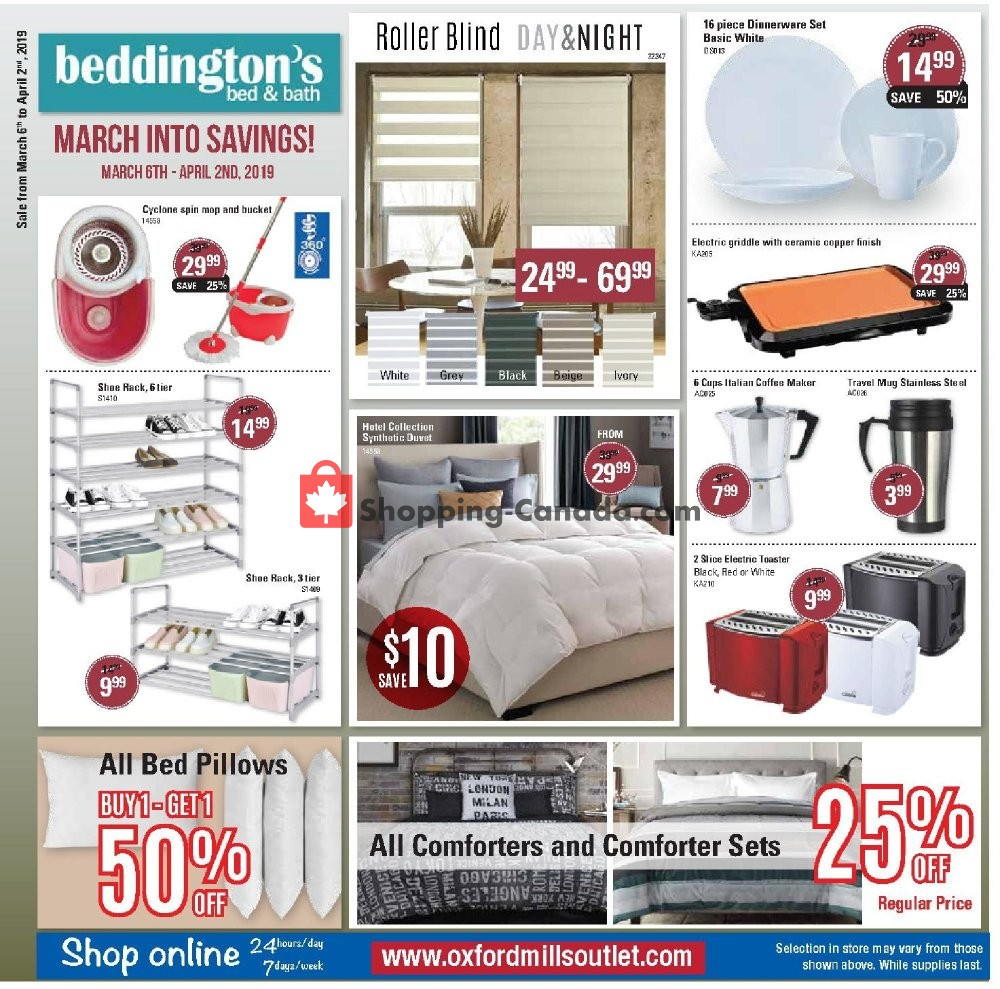 Flyer Beddington's Canada - from Wednesday March 6, 2019 to Tuesday April 2, 2019