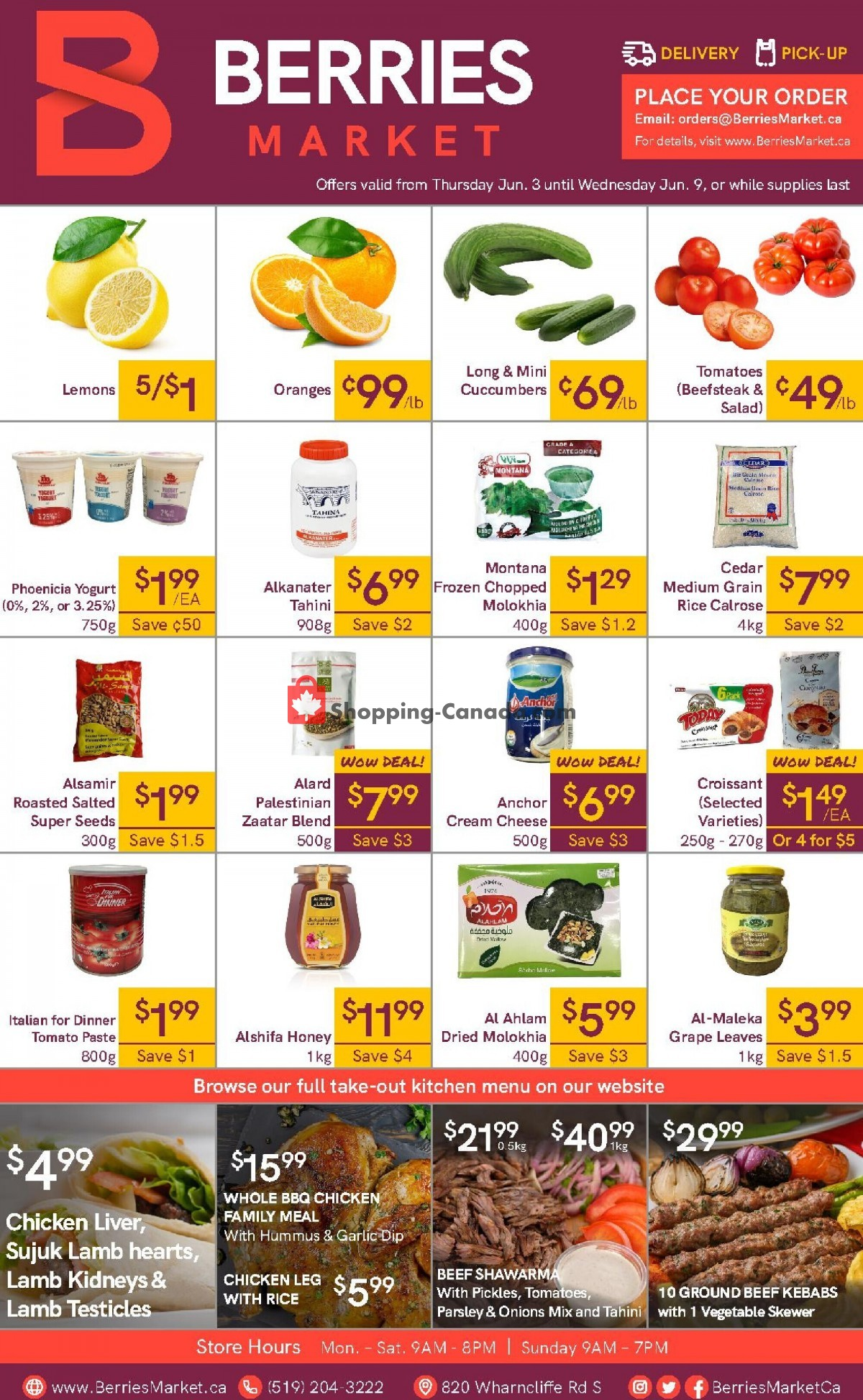 Flyer Berries Market Canada - from Thursday June 3, 2021 to Wednesday June 9, 2021