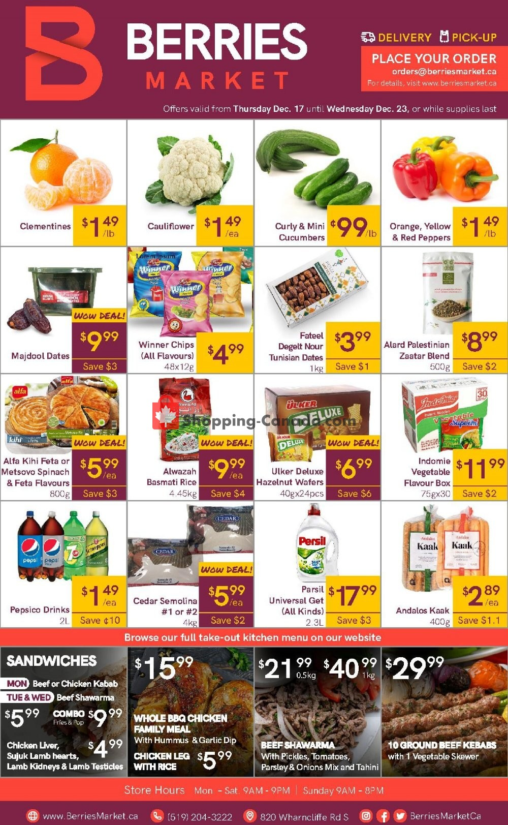Flyer Berries Market Canada - from Thursday December 17, 2020 to Wednesday December 23, 2020