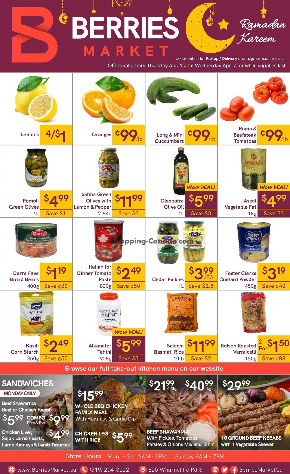 Flyer Berries Market Canada - from Thursday April 1, 2021 to Wednesday April 7, 2021