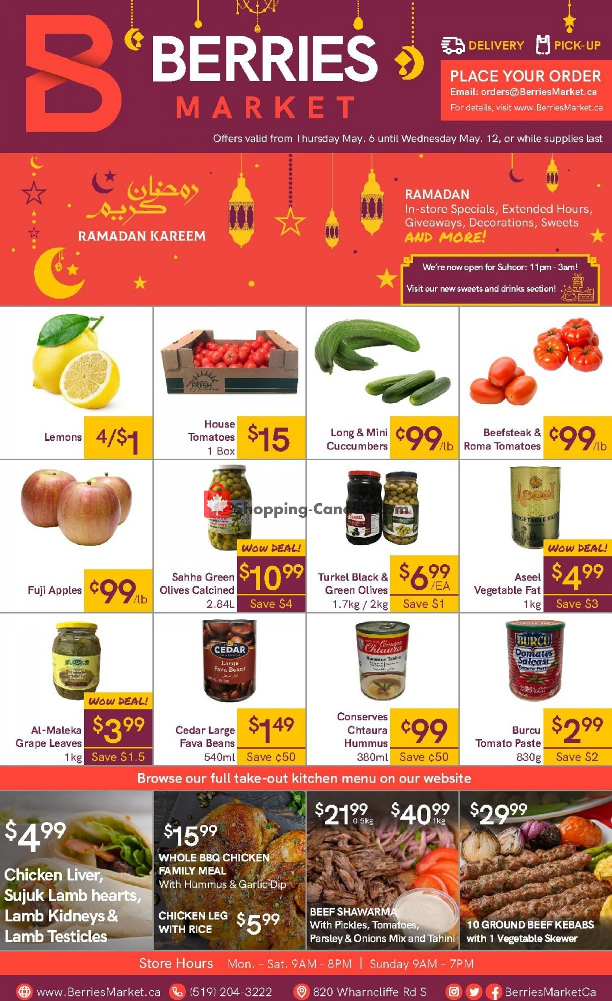 Flyer Berries Market Canada - from Thursday May 6, 2021 to Wednesday May 12, 2021
