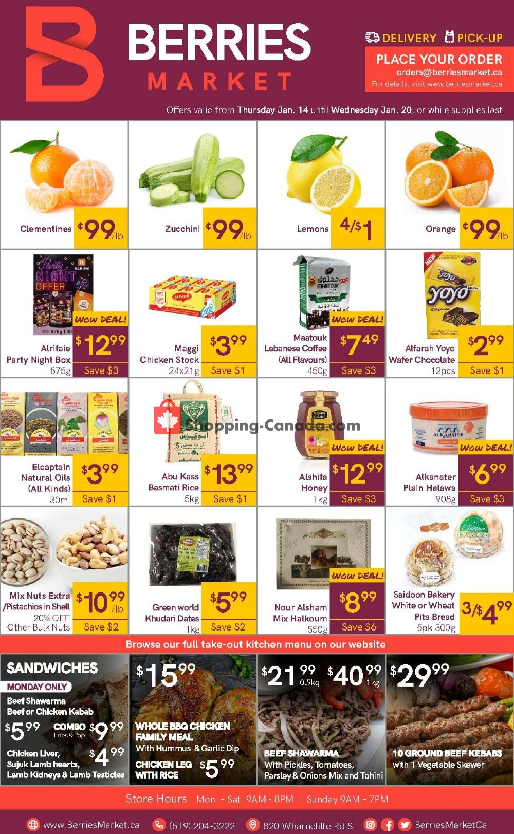 Flyer Berries Market Canada - from Thursday January 14, 2021 to Wednesday January 20, 2021