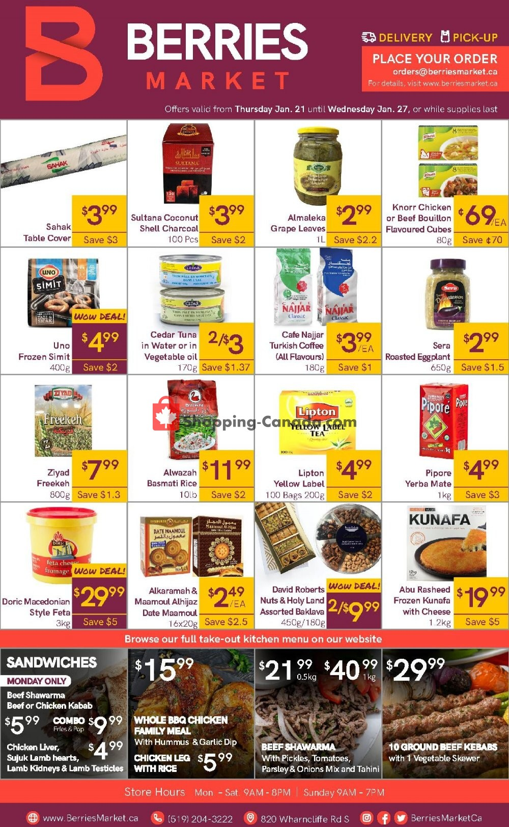 Flyer Berries Market Canada - from Thursday January 21, 2021 to Wednesday January 27, 2021