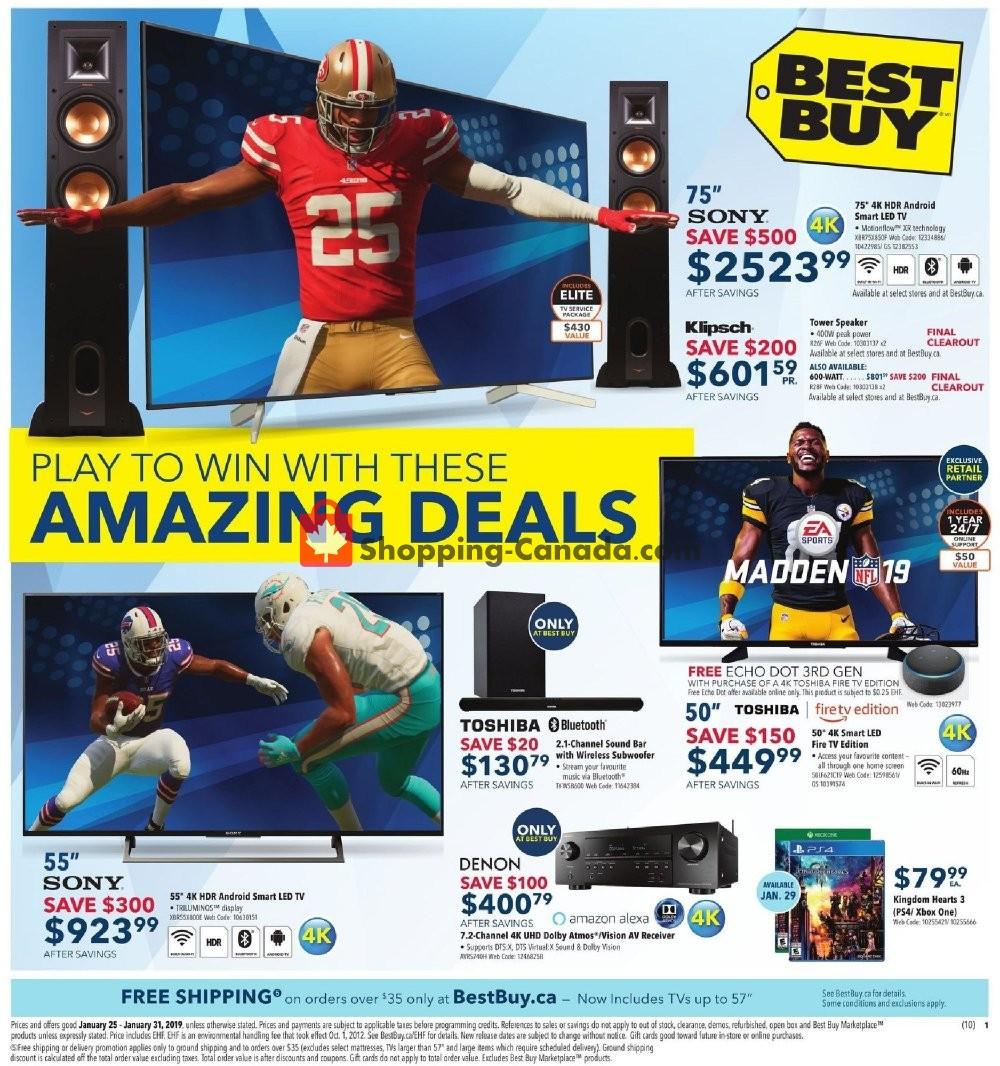 Flyer Best Buy Canada - from Friday January 25, 2019 to Thursday January 31, 2019