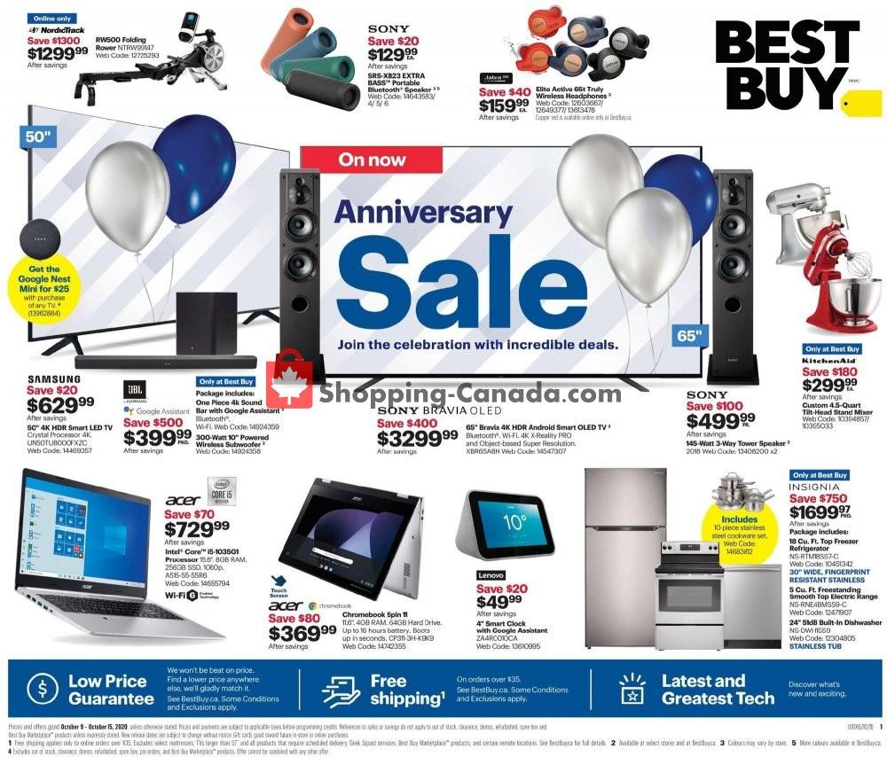 Flyer Best Buy Canada - from Friday October 9, 2020 to Thursday October 15, 2020