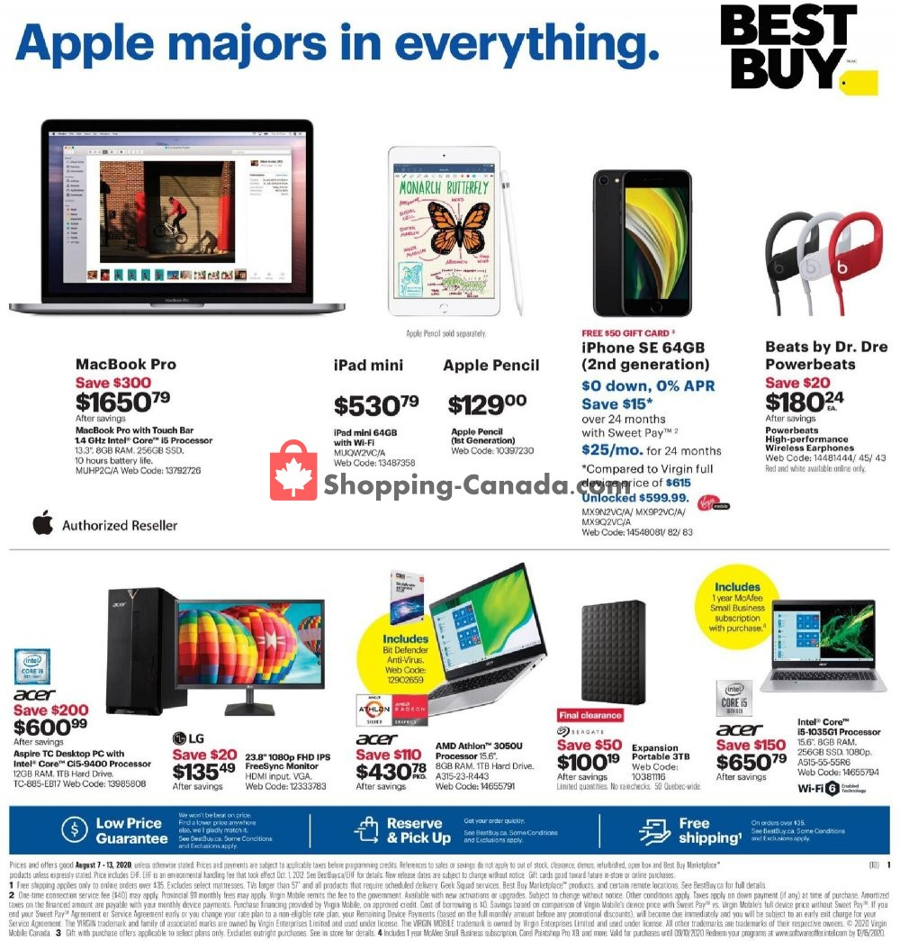 Flyer Best Buy Canada - from Friday August 7, 2020 to Thursday August 13, 2020