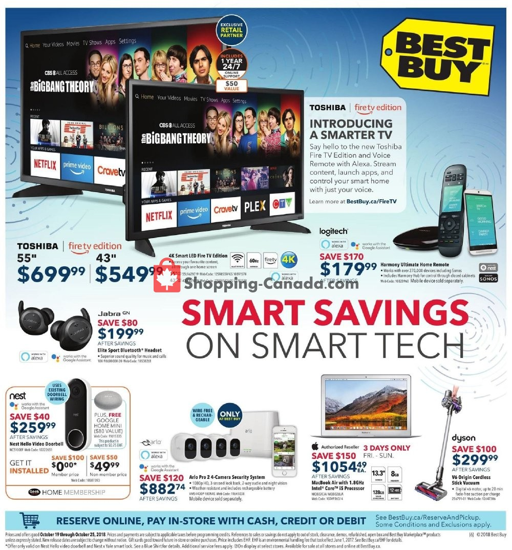 Flyer Best Buy Canada - from Friday October 19, 2018 to Thursday October 25, 2018