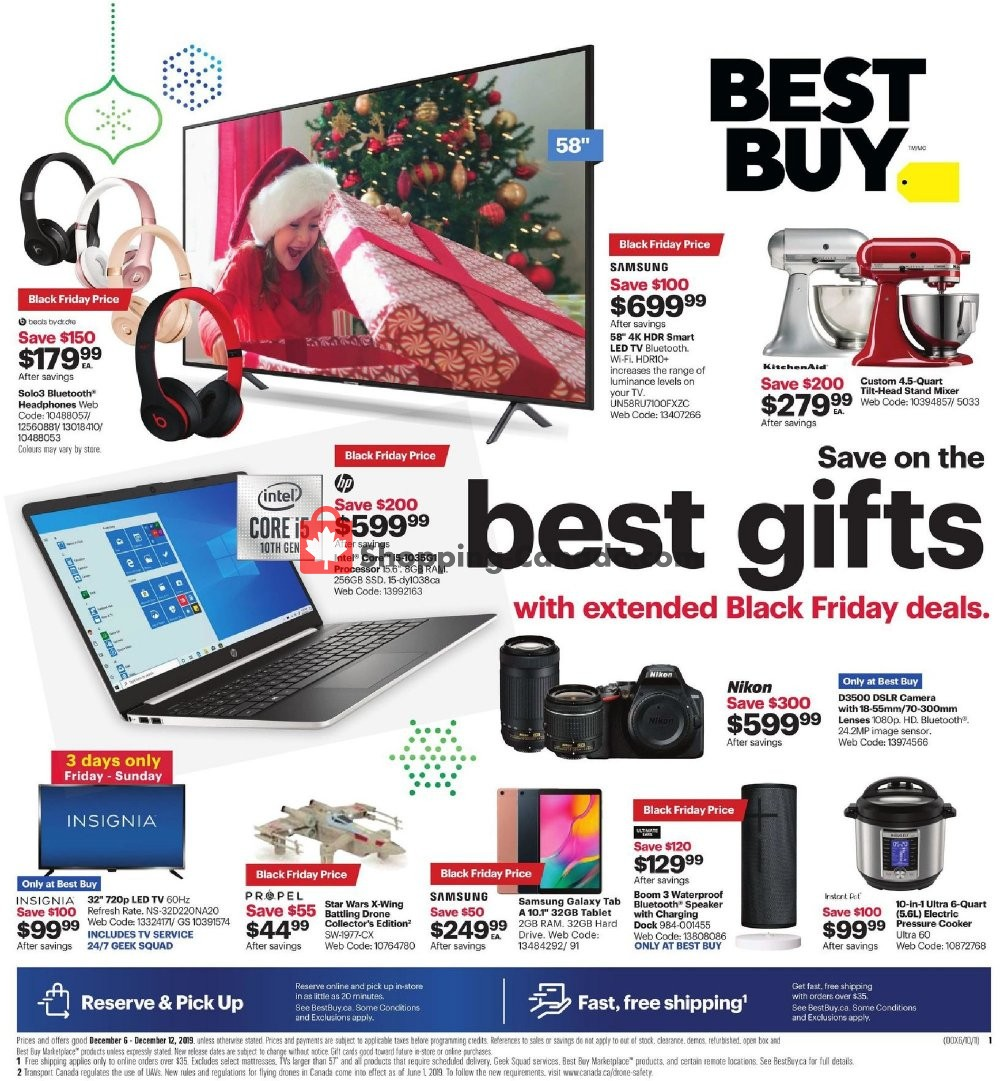 Flyer Best Buy Canada - from Friday December 6, 2019 to Thursday December 12, 2019