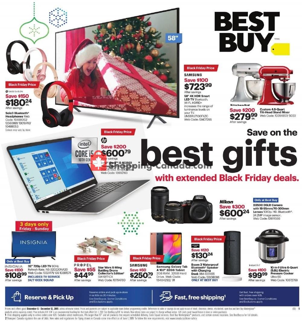 Flyer Best Buy Canada - from Friday December 6, 2019 to Thursday December 12, 2019
